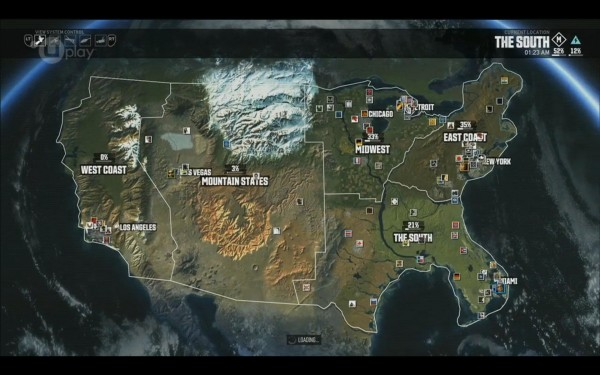 THE CREW MMO Beta Review Nerd Report - The crew us map