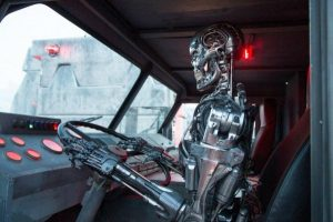 New TERMINATOR: GENISYS Images Include Endoskeleton Driving A Truck!
