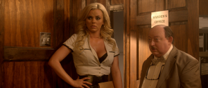 Bree Olson as Daisy, with Laurence R. Harvey in The Human Centipede III (Final Sequence)