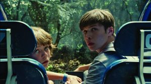 Ty Simpkins and Nick Robinson in Jurassic World