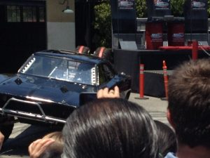 Dodge Charger stunt at the unveiling of the Fast & Furious Supercharged ride at Universal Studios Hollywood
