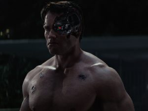 The Terminator in TERMINATOR GENISYS from Paramount Pictures and Skydance Productions.