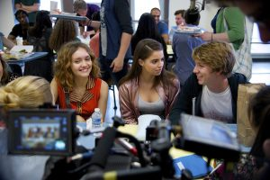 Olivia Cooke, Katherine C. Hughes and Thomas Mann in Me and Earl and the Dying Girl