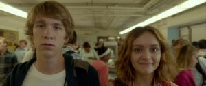Thomas Mann and Olivia Cooke in Me and Earl and the Dying Girl