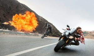 Tom Cruise plays Ethan Hunt in MISSION: IMPOSSIBLE - ROGUE NATION by Paramount Pictures and Skydance Productions