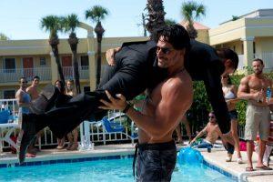 Joe Manganiello carries Channing Tatum in Magic Mike XXL