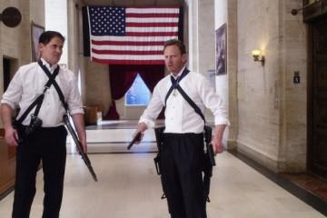 Mark Cuban and Ian Ziering in Sharknado 3: Oh Hell No!