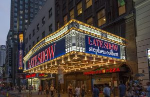 The Ed Sullivan Theater is ready for The Late Show with Stephen Colbert.