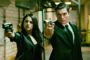 From Dusk Till Dawn: The Series, for El Rey Network and Miramax. L to R; Eiza Gonzalez as Santánico Pandemonium and Zane Holtz as Richie Gecko.