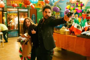 From Dusk Till Dawn: The Series, for El Rey Network and Miramax. L to R; Madison Davenport as Kate Fuller and D.J. Cotrona as Seth Gecko.