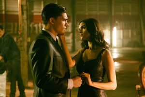 From Dusk Till Dawn: The Series, for El Rey Network and Miramax. L to R; Zane Holtz as Richie Gecko and Eiza Gonzalez as Santánico Pandemonium.