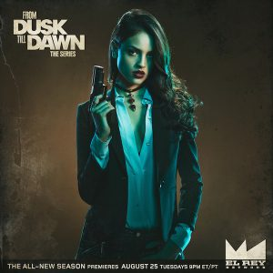 Eiza Gonzalez as Santanico Pandemonium in From Dusk Till Dawn: The Series