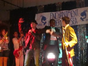 "Marvin Berry himself, Harry Waters, Jr., performed ""Earth Angel"" at the Enchantment Under the Sea dance 2010"