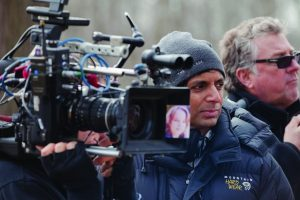 M .Night Shyamalan on the set of The Visit