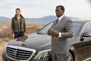 Philip Winchester and Wesley Snipes in The Player