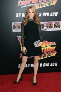 Lea Thompson today at the Back to the Future 30th Anniversary Trilogy celebration