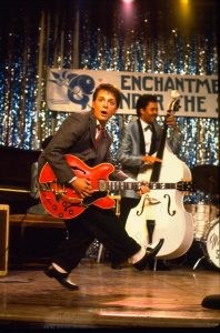 Marty McFly sings Johnny B. Goode in Back to the Future