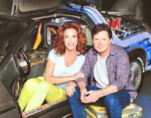 Claudia Wells and Michael J. Fox at London Comic-Con