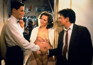 Crispin Glover, Lea Thompson and Michael J. Fox in Back to the Future