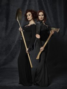 Jen and Sylvia Soska host Hellevator, Wednesdays at 8 on GSN