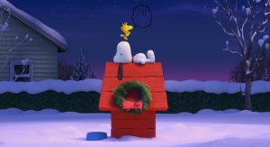707_010_184_4K_UniversalColor_WB_: Before their next big airborne adventure, Snoopy and Woodstock have a quiet moment.  Photo credit: Twentieth Century Fox & Peanuts Worldwide LLC