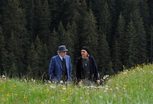 """Michael Caine as """"Fred"""" and Harvey Keitel as """"Mick"""" in YOUTH. Photo by Gianni Fiorito. © 2015 Twentieth Century Fox Film Corporation All Rights Reserved"""