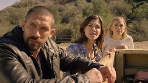 Scot Adkins, Caitlin Keats and Madison Lawlor in Close Range