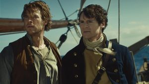 Chris Hemsworth and Benjamin Walker in In the Heart of the Sea