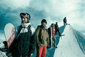 Getting ready to snowboard in Point Break