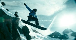 Extreme snowboarding in Point Break