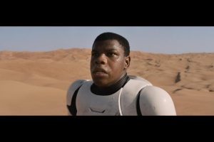 Our first glimpse of Finn (John Boyega) in Star Wars: The Force Awakens trailers