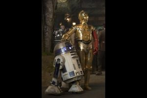 Familiar faces C-3P0 and R2-D2