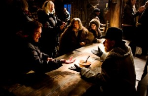 On the set of Minnie's Haberdashery in The Hateful Eight