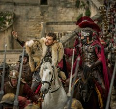 Pilou Asbaek plays Pontius Pilate and Toby Kebbell plays Messala Severus in Ben-Hur from Metro-Goldwyn-Mayer Pictures and Paramount Pictures.