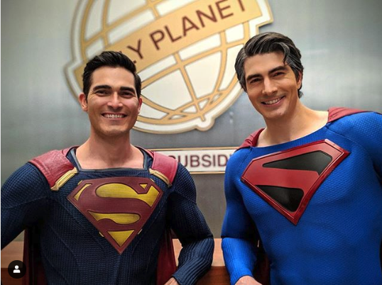 OMG! Brandon Routh And Tyler Hoechlin Show Off New CRISIS ON INFINITE EARTHS Image!