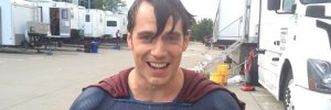 Henry Cavill and Amy Adams Accept the ALS Ice Bucket Challenge in Costume on the Set of BATMAN V SUPERMAN: DAWN OF JUSTICE