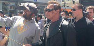 Check out Schwarznegger In Terminator Cosplay!